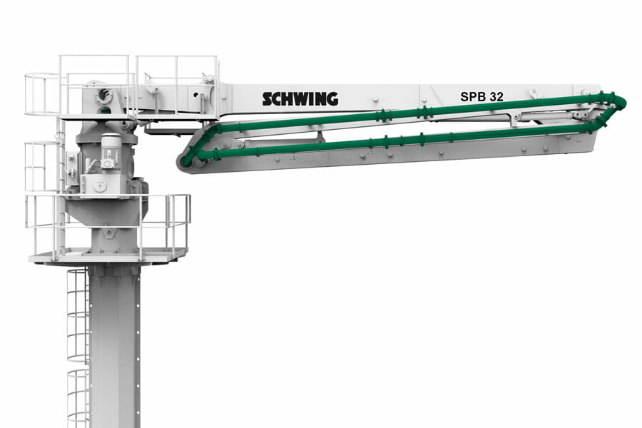 schwing placing boom